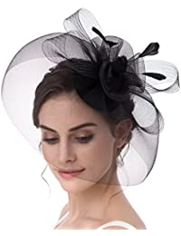 Feather Fascinator Cocktail Party Hair Clip Pillbox Hats