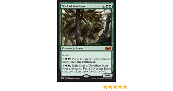 soul of zendikar MTG foil mythic Magic the gathering magic 2015