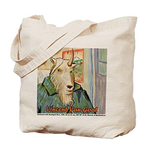 CafePress–Vincent Van Capra–Borsa di tela naturale, panno borsa per la spesa