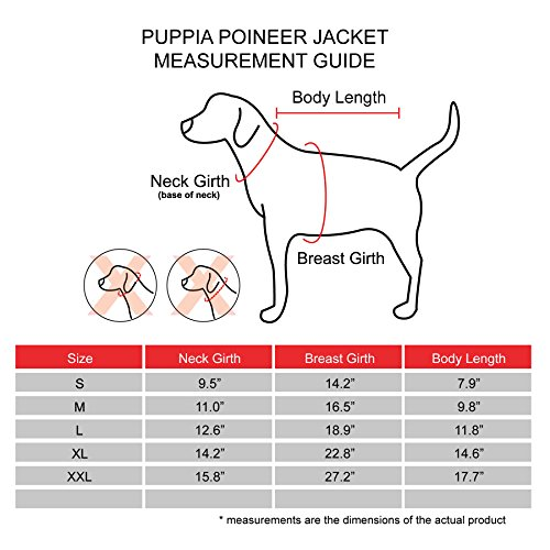 Puppia Pioneer Pet Coat, Large, Red by Puppia (Image #5)