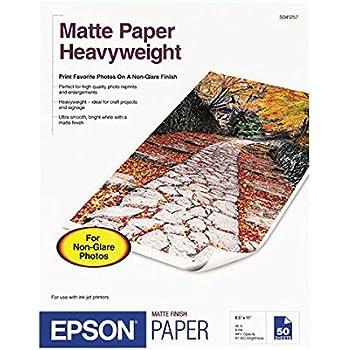 Amazon Com Epson Heavyweight 8 5x11 Matte Paper 50