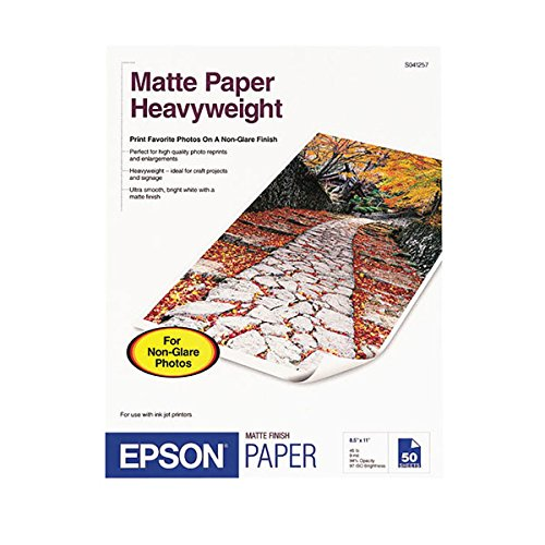 Epson MATTE PAPER,HEAVYWEIGHT,LETTER SIZE