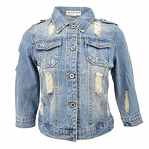 Toddler Ringmaster Costumes (Plus Size 5XL 6XL Summer Denim Jacket Women Three Quarter Slim Cotton Light Washed Short Jeans Jacket Coats)