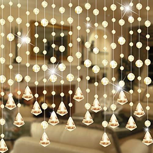 Bay Window Curtains Modern Luxury Crystal Beaded Curtain Modern Living Room Curtain Crystal Window Curtain Wedding Decor 1m/1pcs