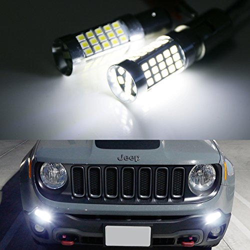 iJDMTOY-2-6000K-Xenon-White-CAN-bus-LED-Daytime-Running-Light-DRL-Bulbs-For-2015-up-Jeep-Renegade