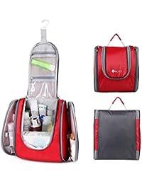 Water Resistant Hanging Travel Toiletry Kit&Travel Essentials Organizer For Men & Women