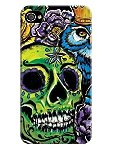 IPhone 4 Case,IPhone 4S Case,DIY ARTICLE Beautiful Skull Arts 3D PRINT Cover for Iphone 4 wangjiang maoyi by lolosakes