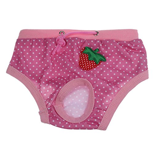 Pet Panty Daoroka Reusable Washable Physiological Sanitary Underwear Pants Diaper for Puppy Girl Female Small Pet Dog Cat (M, -