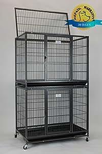 """Amazon.com : Homey Pet New 37"""" Stackable Open Top Heavy"""