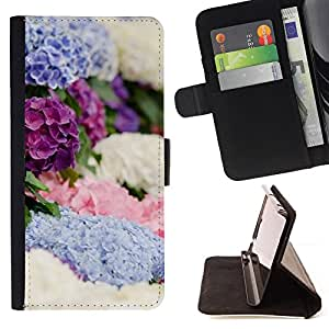 Jordan Colourful Shop - spring flowers white blue purple For Apple Iphone 6 PLUS 5.5 - Leather Case Absorci???¡¯???€????€???????&bdqu
