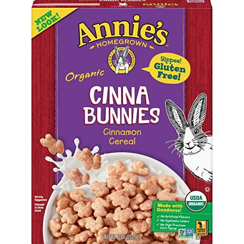Annie's Organic, Gluten Free, Cinnabunnies Cinnamon Cereal,