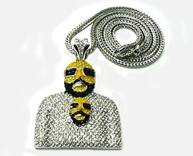 Iced out rick ross face hip hop pendant w chain silver amazon iced out rick ross face hip hop pendant w chain silver aloadofball Gallery