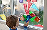 Magnetic Block Toy To Build 3D Magnet Tile Structures - (100 Piece) Magna Color Shapes Are Kid Approved! This Learn & Play Set Is Best For Children & Toddlers, Instead Of Wooden Construction Blocks.