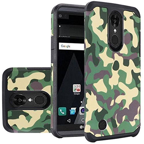 HR Wireless Cell Phone Case for LG Aristo - Camouflage - Green Camouflage