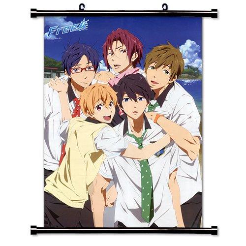 """1 X Free! Iwatobi Swim Club Anime Fabric Wall Scroll Poster (16"""" x 23"""") Inches"""