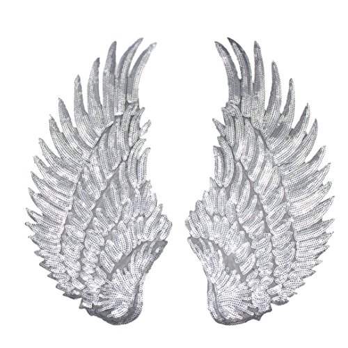 1 Pair Of Sequins Embroidered Patches For Clothes DIY Patch Wings Sew On Appliques Embroidery Patch (Cheap Diy Family Halloween Costumes)