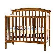 Dream On Me Eden 4 in 1 Convertible Mini Crib, Espresso