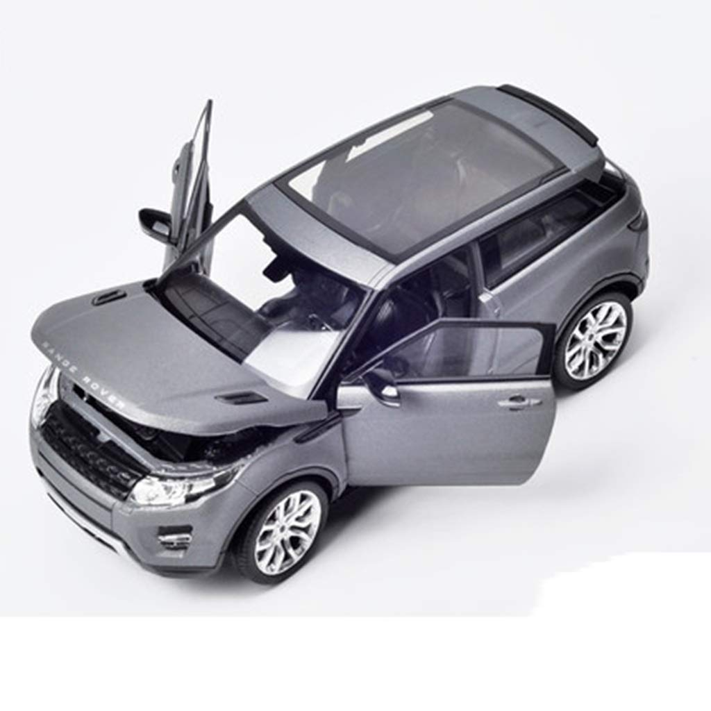 White PENGJIEModel Land Rover Aurora Alloy Car Model 1 24 Collection Gift Simulation Car SUV Model (color   White)