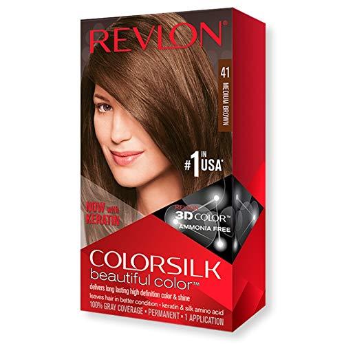 (Revlon ColorSilk Beautiful Color 41 Medium Brown 1 ea (Pack of 6))