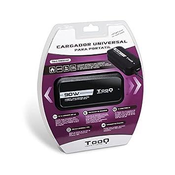 TooQ TQLC-90BS02AT - Cargador adaptador universal automatico de 90 W para ordenador portatil,