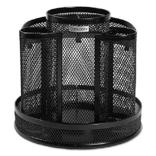 Rolodex Mesh Collection Spinning Desk Sorter, Black (1773083) (5, Black) by Rolodex