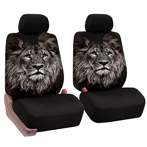 Ocamo Universal Car Front Seat Full Package Cushion Unique Lion Pattern...