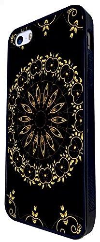 1391 - Cool Fun Trendy Cute Kawaii Space Hypnotise Kaleidoscope Peace Art Swirl Design iphone SE - 2016 Coque Fashion Trend Case Coque Protection Cover plastique et métal - Noir
