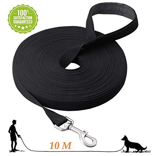 Fttouuy Schleppleine Hunde - Übungsleine mit Gepolsterten Griff- Robuste Trainings Leine aus langlebigem Nylon - Laufleine für große & Kleine Hunde