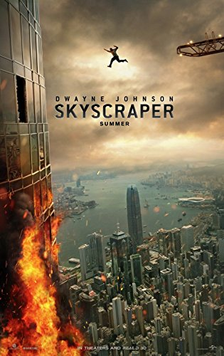skyscraper 27 x40 d s original movie poster one sheet 2018 dwayne