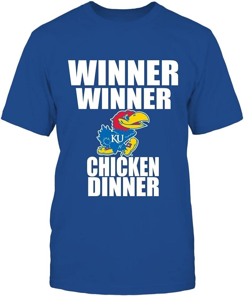 FanPrint Kansas Jayhawks Hoodie - Winner Winner Chicken Dinner - Ku