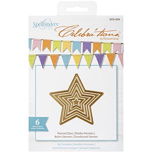 Spellbinders SCD-024 Celebra'tions Pierced Stars Embellishment