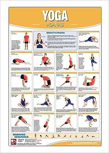 Yoga - Asana Poster/Chart Laminated; Yoga Poster, Yoga Chart ...