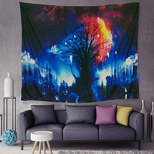 Luckey1 Colorful Tree Angel Tapestry, Beautiful Wall Hanging Tapestry Polyester Large Wall Tapestries 200cm x 150cm (Colorful Tree)