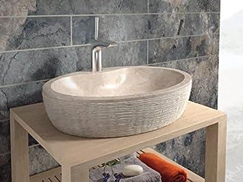 Bathco Bathco Waschbecken Auf Waschtischplatte Stein Santorini 55