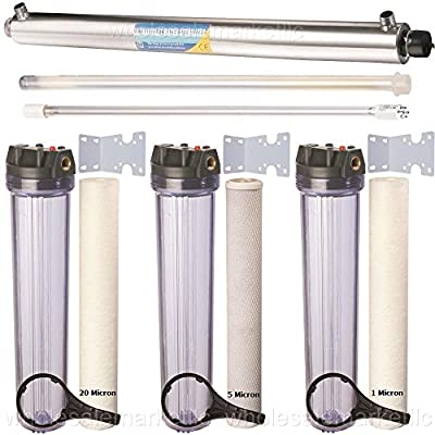 55W UV Ultraviolet + Sediment & CTO Carbon Well Water Filter / Sterilizer System
