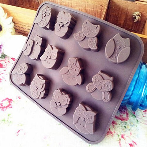 Ainest Silicone Owl Cake Decorating Mould Candy Cookies Chocolate Soap Baking Mold Tool