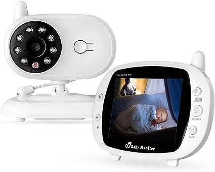 MRYX Vigilabeb/és Inalambrico Beb/é Monitor con C/ámara Visi/ón Nocturna 2 Way Talkback System Pantalla LCD a Color 3.5 para Beb/éS//Ancianos//Mascotas C/áMara de Seguridad