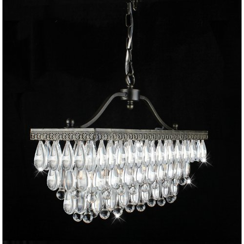 Jojospring Crystal 3-Light Antique Copper Chandelier