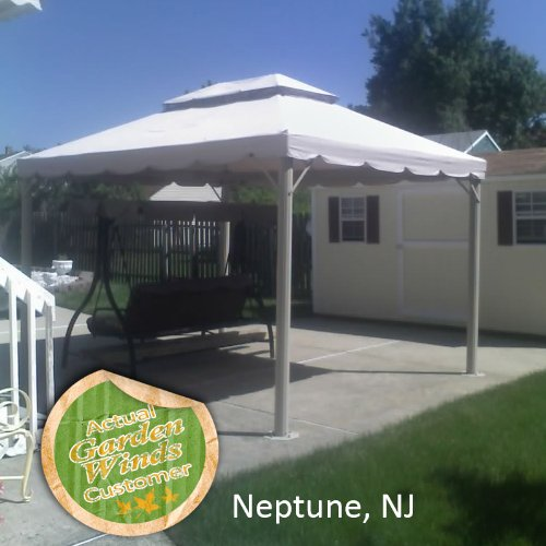 Garden Winds 10 X 12 Two Tiered Gazebo Replacement Canopy