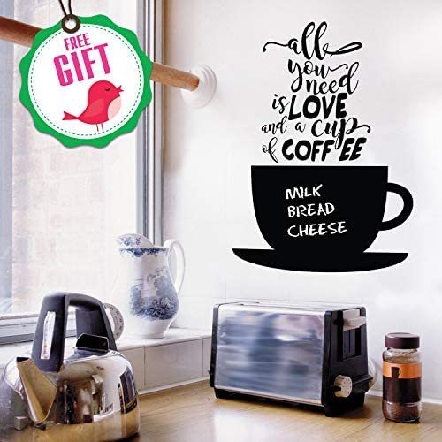 Chalkboard Coffee Decals Quotes Kitchen product image