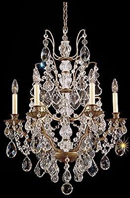 Schonbek 5770-76L Swarovski Lighting Bordeaux Chandelier, Heirloom Bronze