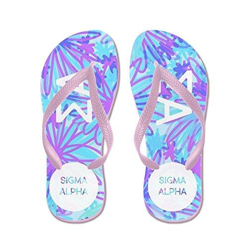 Cafepress Sigma Alpha Purple Floral - Infradito, Divertenti Sandali Infradito, Sandali Da Spiaggia Rosa