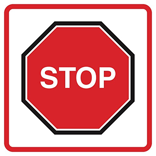 iCandy Combat 4 Pack - Square Picture Stop Sign Road Stre...
