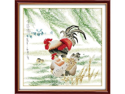 Happy Forever Cross Stitch,The animals,the chicken family