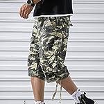 OEAK Shorts Cargo Homme Rétro Baggy Pantacourt Camouflage Outdoor Bermudas Casual Combat Pantalon Court Militaire Multi… 10