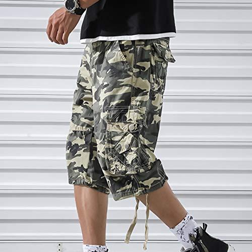 OEAK Shorts Cargo Homme Rétro Baggy Pantacourt Camouflage Outdoor Bermudas Casual Combat Pantalon Court Militaire Multi… 3