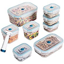 Zevro KCH-06093 Vac n Save Ruby Rectangular-Shaped Vacuum-Sealing Food