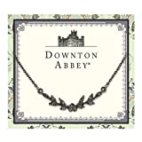 Downton Abbey Collection Jeweled Jet Leaf Collar Necklace 17577