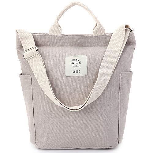 (Worldlyda Women Canvas Tote Purse Handbags Crossbody Shoulder Bag Casual Work School Shopper Hobo Top Handle Handbag)