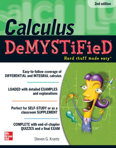 Calculus DeMYSTiFieD, Second Edition (Fix Everything Electronic compare prices)